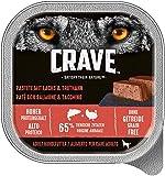 CRAVE Premium Pastete für Hunde – Getreidefreies Adult Nassfutter in der Schale
