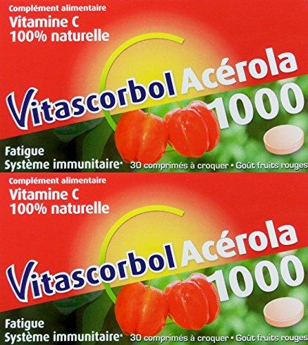 Vitascorbol Acerola 1000 Lot de 2