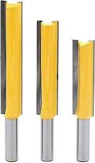 TINGB Frese per Legno 5 Pezzi di Router Dritti a Doppio Flauto frese per Legno Fresa per Legno Diametro 12,7 mm Fresa per Piano di Lavoro per scanalatura Frese Scalpello
