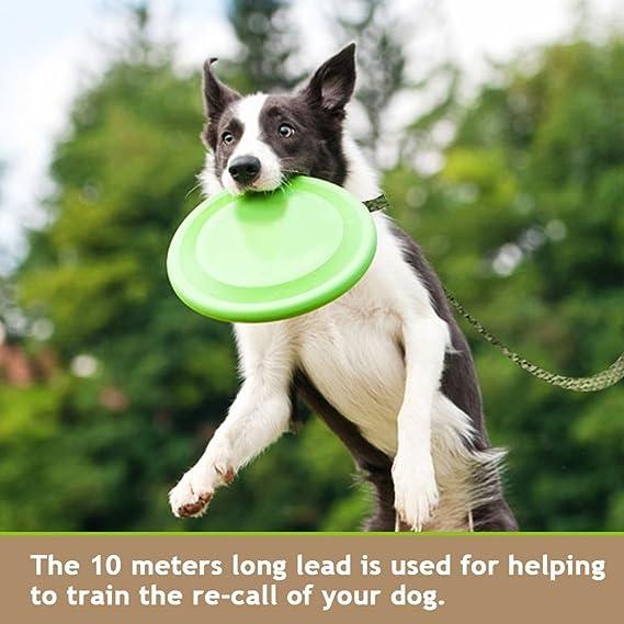 ideal para entrenamiento 10 m color negro jard/ín nailon Correa para perro etc. camping iNeith