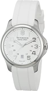 Victorinox Swiss Army Officer Women's White Dial Rubber Band Watch - 241366