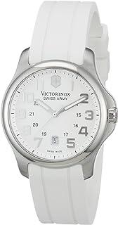 ساعة فيكترونيكس سويس ارمي اوفيسر للنساء مينا بسوار مطاطي ابيض - 241366