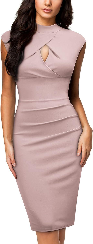 Miusol Women's Business Slim Style Ruffle Work Pencil Dress