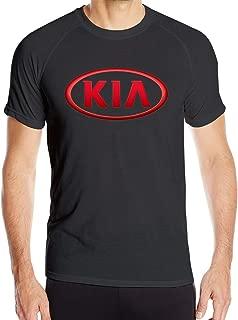ZaHome Mens Kia Logo Sporty Style T Shirts Short Sleeve Athletic Quick-Drying Tee