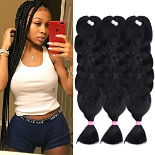 Synthetic Braiding Hair Extensions Kanekalon Hair 165G/pack 84inch Twist Braiding Hair High Temperature Hair Extensions 3Pack #2