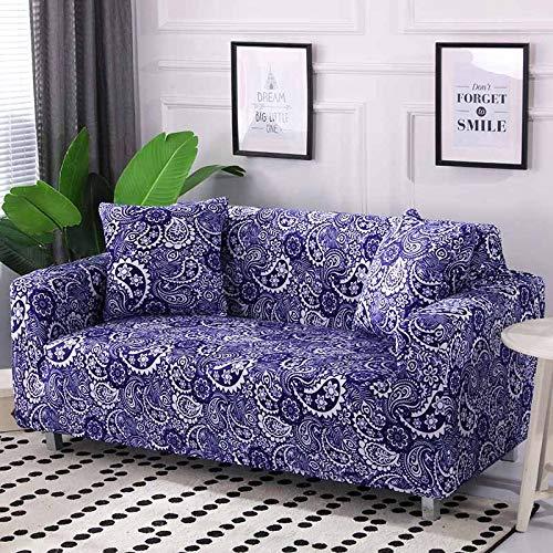 ASCV Funda de sofá elástica de algodón elástico Fundas de sofá de Esquina con Todo Incluido para Muebles de Sala Fundas para sillas Funda de sofá A1 2 plazas