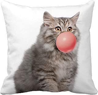 Unionm Pillow Covers Decor Throw Pillow Case Linen Cute Cat Digital Printing Printed Rectangular 45 x 45 cm 18 x 18 inch Cushion Cover for Home Sofa Car 1 Pack