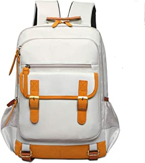 Student Bag, Campus Waterproof Backpack, Lightweight and Portable, Durable and Multi-Color Optional LIUXIN (Color : Beige)