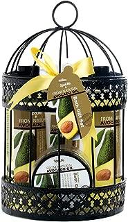 Spa Life All Natural Bath and Body Luxury Spa Gift Set Basket (Avocado)