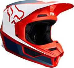 2019 Fox Racing V1 Przm Off-Road Motorcycle Helmet - Navy/Red / Medium