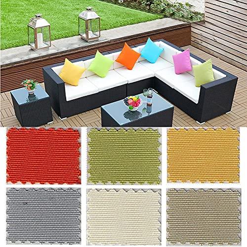 YSGLIFE Pack de 2, 55x55cm Funda de Almohada Impermeable Funda de Almohada para el Hogar al Aire Libre Decoración Fundas de Cojín Protectores para Coche Cama Sofá Silla Muebles de Jardín