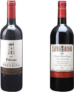 [ 2本 まとめ買い ワイン 飲み比べ ] 2015年 カベルネ ソーヴィニヨン ファルコーネ (ラ プレンディーナ) 750ml と 2010年 カプロ ロッソ (ファットーリア ディ バニョーロ) 750ml ワインセット