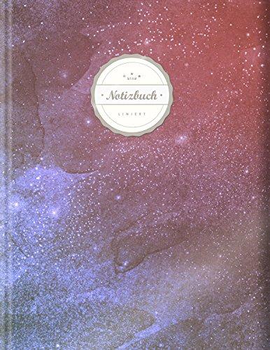 """Liniertes Notizbuch (©Star, A4, 156 Seiten, Softcover)    Mit Register + Doppelrand + Lineatur 27    Dickes Notizbuch, Fester Einband, Deutschheft, Schreibheft, Schulheft, Tagebuch, """"Weltall"""""""