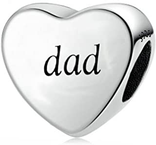 You Raise Me Up Dad 925 Sterling Silver Charms Bead for Bracelet Jewelry from Daughter Son