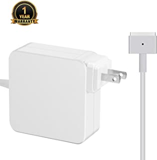 Mac Book Air Charger Replacement 45W Magsafe 2 Magnetic T-Tip Power Adapter Charger for MacBook Air 11-inch & 13-inch (Mid 2012 or Later)
