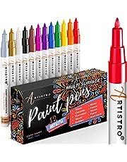 Pennen voor Rock Painting, Steen, Kiezels, Keramisch, Glas, Hout. Set van 12 Acrylverf Markers Extra Fijne Tip 0.7mm.