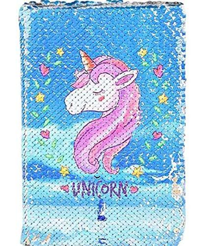 Quaderno Unicorno - Blocchi Appunti Diari Taccuino di Paillettes Regali per Bambini Blocchetti Memo Block Notes A5 Taccuini, Quaderno Scolastico con per Ragazze Bambini