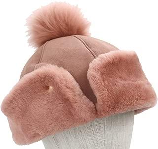 Women's Up Flap Water Resistant Sheepskin Hat
