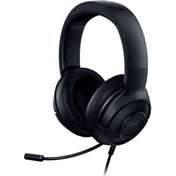 Razer Kraken X Ultralight Gaming Headset: 7.1 Surround Sound Capable - Lightweight Frame - Integrated Audio Controls - Bendable Cardioid Microphone - For PC, Xbox, PS4, Nintendo Switch - Classic Black