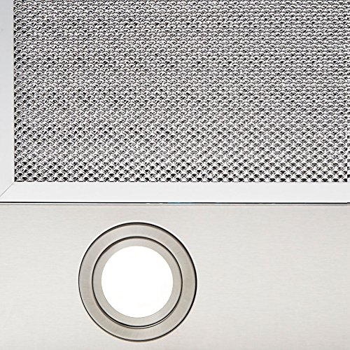 VLANO MIRA 900 WH / * EEK A+ * / Kopffreie Dunstabzughaube / 90 cm/weiß Glas Design/Touch Control/ECO LED / 43 dB (A) / Extra leiser Brushless Motor/Abluft/Umluft / (90 cm) - 4