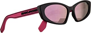 Marc Jacobs Marc 356/S Sunglasses Fuchsia w/Pink Rubber Temples & Grey Rose Gold Mirror Lens 54mm MU10J Marc 356S Marc356S...