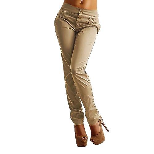 238b87244 StyleDome Vaqueros Mujer Pantalon Pantalones Largos Botones Oficina