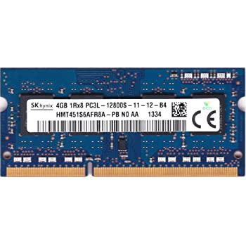 Hynix HMT451S6AFR8A-PB 4GB PC3-12800 DDR3-1600MHz non-ECC Unbuffered CL11 204-Pin SoDimm 1.35V Low Voltage Single Rank Memory Module