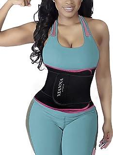 YIANNA Kvinnor midjetränare bälte magsport shaper trimmer svett träningsbälte