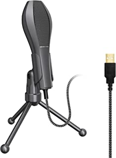 Microphone,USB Wired Condenser Microphone Mic with Desktop Mini Tripod Stand for PC Laptop Playing Games Computer Studio R...