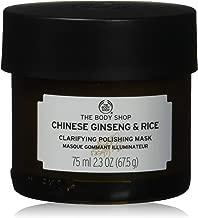The Body Shop Chinese Ginseng & Rice Clarifying Polishing Mask, Expert Facial Mask, Paraben Free,2.3 Oz.
