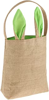 HOMYL Kids Easter Egg Hunt Treat Gift Burlap Tote Bag Party Candy Sweets Prize Bags