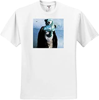3dRose Stamp City Birds - T-Shirts Photograph of a Turkey Vulture Flying Above Looking for its Next Meal
