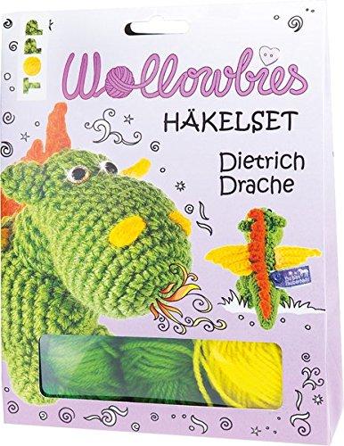 Fabelhafte Wollowbies Häkelset Dietrich Drache: Anleitung, Steckbrief und Material für einen süßen Drachen