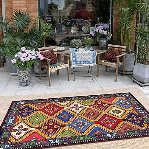 Teppich, Vintage-Stil, schick, groß, weich, für Wohnzimmer, Schlafzimmer, Küche, Garderobe, Nachttisch, Kinderzimmer, Stuhlmatte (Größe: 150 x 200 cm)