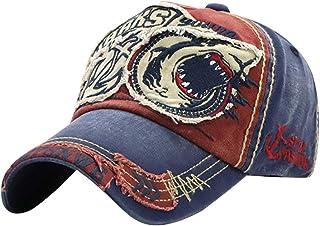MINAKOLIFE Mens Shark Distressed Vintage Baseball Cap Hat