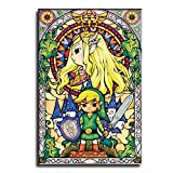 APIG Legend of Zelda Wind Waker Art Poster Decorative Painting Canvas Wall Art Living Room Posters Bedroom Painting 12×18inch(30×45cm)