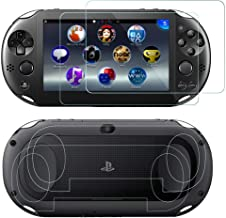 SNNC PlayStation Vita 2000 Screen Protector Anti-Scratch Tempered Glass Film Shield Games Console Joy Con Accessories Case...