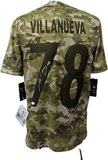 Alejandro Villanueva Signed Steelers Camo Salute to Service Jersey JSA 143017