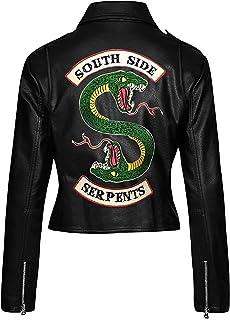 Fashion_First Riverdale Southside Serpents - Chaqueta de piel para motociclista