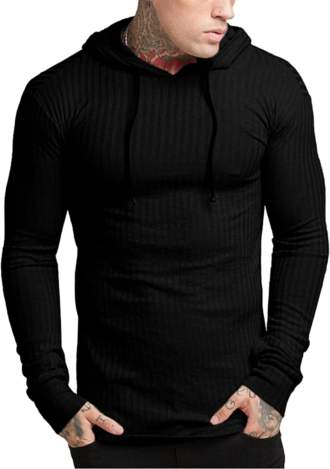 Babioboa Men's Hoodies Pullover Limited Special Price Long S Sleeve Lightweight Ribbed Memphis Mall