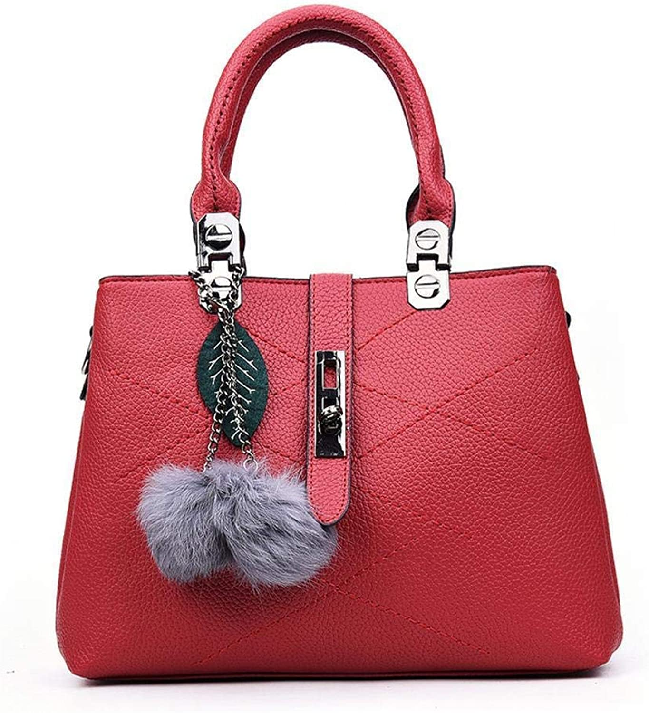 Evening Bag Lady Purse, Hair Ball Handbag, Single Shoulder Oblique Span Bag, Large Capacity Package 26 10 20cm Party Handbag (color   D)