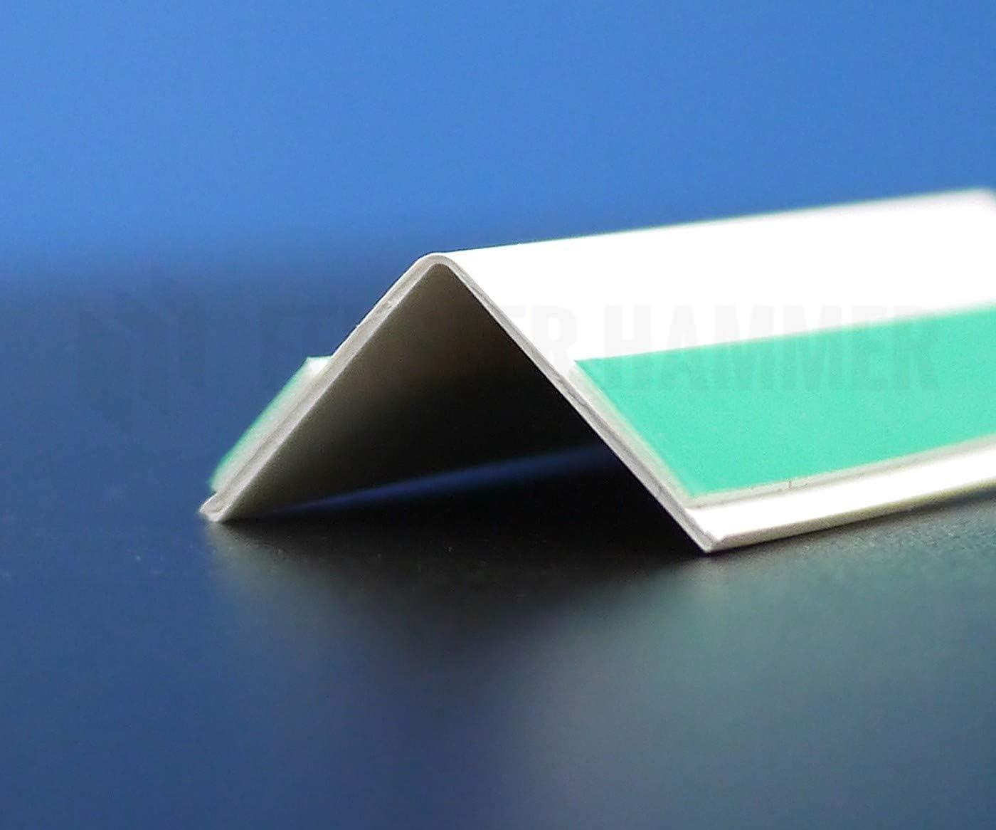Fensterleiste Flachprofil PVC selbstklebend 60mm breit 10m lang Abdeckleiste
