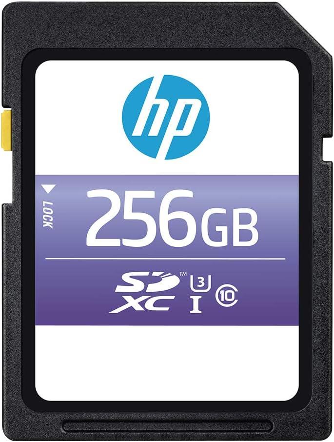 HP 256GB sx330 Class 10 U3 SDXC Flash Memory Card (P-SD256U395HPSX-GE)