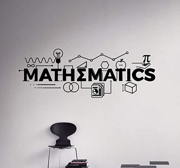 Mathematics Wall Decal Vinyl Sticker Science Education School Home Art Decor 20 Nwg
