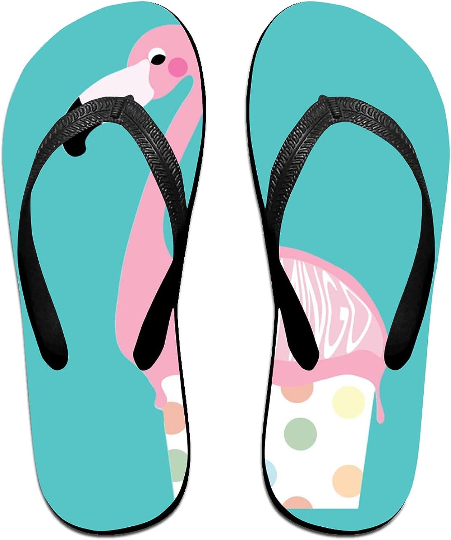Women's Men's Flip Max 70% OFF Flop Slippers Ice Adults Flamingo Cream Superior In
