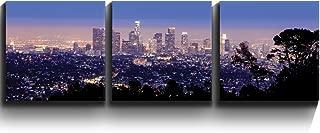 wall26 - Los Angeles Skyline Evening - Canvas Art Wall Decor - 16