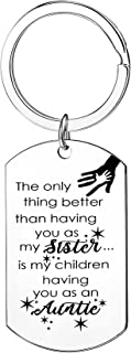 Sister Keyring From Sister Auntie Gifts Aunt Sister Keychain Birthday Gifts For Sister Women Friends