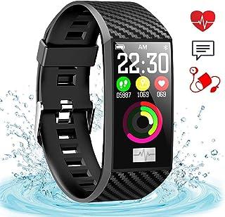 Grerushen Fitness Tracker Reloj Inteligente Pulsera conectada Podómetro Cardio Monitor de sueño Monitor de Ritmo cardíaco Monitor de presión Arterial