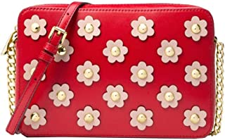 MICHAEL MICHAEL KORS Jet Set Floral Applique Leather Crossbody - Multi Color