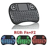 Mini 2.4 GHz Backlit illuminated Wireless Keyboard and Mouse Combo with Touchpad LED Remote Rechargeable Li-Ion Battery, for PC Android TV Box Windows XP Vista 7 8 10